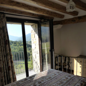 Single Room with balcony and ensuite at our Bed and Breakfast Spanish Pyrenees