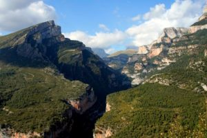 View of the Añisclo Canyon on Aragon Active Holidays Ordesa National Park