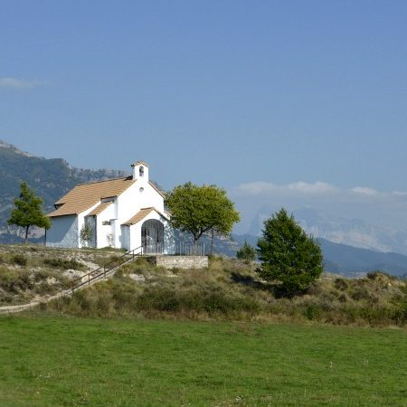 The chapel of San Urbez on Bed and Breakfast Spanish Pyrenees