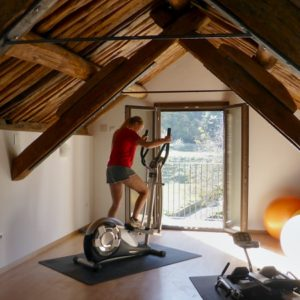 A view of the gymnasium on on Bed and Breakfast Spanish Pyrenees