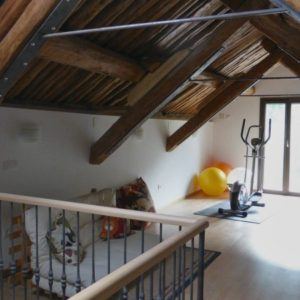Gymnasium at Casa Allue on Bed and Breakfast Spanish Pyrenees Holidays
