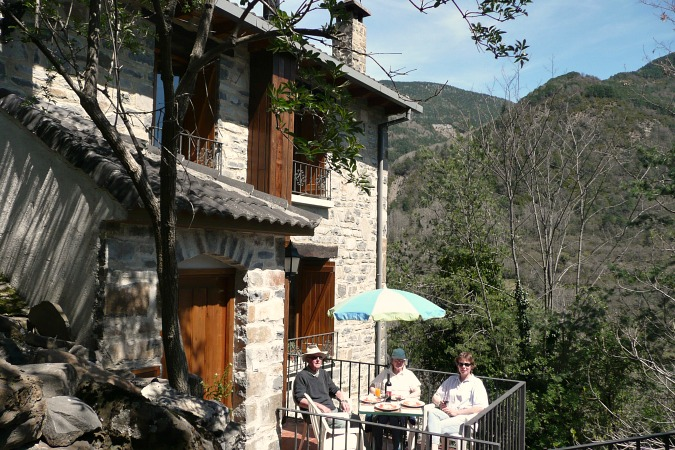 View of self-catering cottage Torla on Accommodation Spanish Pyrenees