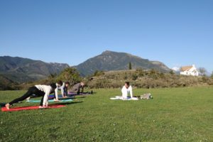 Practising yoga in Albella with Tej on Yoga Meditation and Wellness Retreat