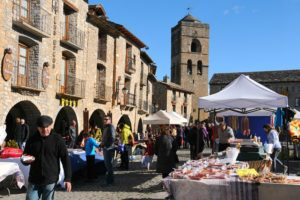 View of the Feria Ainsa on Cooking and Walking Holiodays Spain