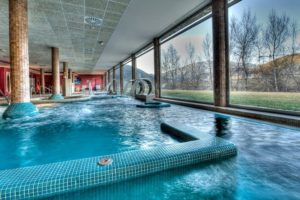 A view of the local spa we visit on one of our meditation and yoga holidays