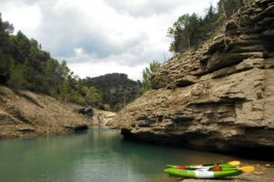 Kayaks in the Spanish Pyrenees on Tailor Made Activity Holidays Spain