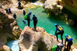 Canyoning in the sierra de guara on tailor made activity holidays spain