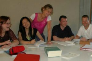 Teaching in a classroom on tailor M;ade Activity Holidays Spain