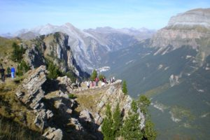 View from the view points in the Ordesa canyon on Cooking and Walking Holidays Spain