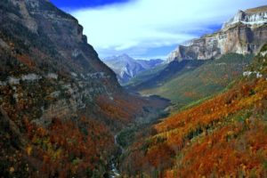 Ordesa valley in autumn on Guided Walking Holidays Pyrenees