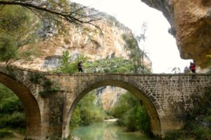 View of Puente Villacanta on Winter Walking Holiday Pyrenees