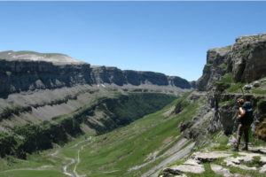 A view of the Ordesa Valley on Guided walking Holidays Pyrenees