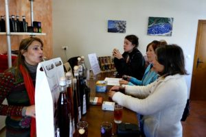 Visiting an artisan producer of infusions on Cooking Walking Holiday Reviews Spain