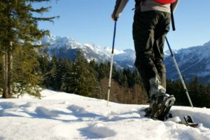 Walking in snowshoes on Winter Walking Holiday Pyrenees