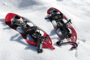 A pair of snowshoes on Winter Walking Holiday Pyrenees