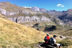 A rest in Bujaruelo on Trail Running Holiday Pyrenees