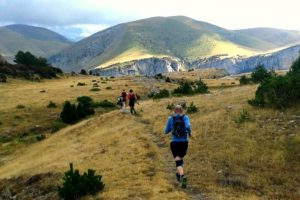 Running on one of our many trails in Oredesa on Trail Running Holiday Pyrenees