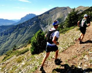 Runners on an ultratrail on Trail Running Holiday Pyrenees