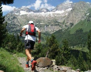 A trail runner in the Pyrenees on Trail Running Holiday Pyrenees