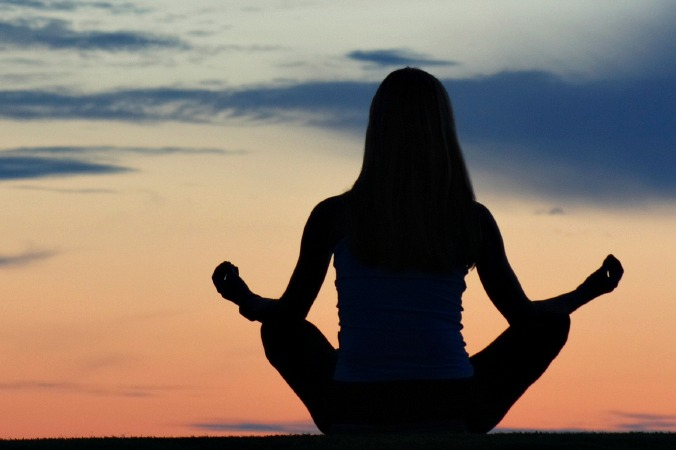 Meditation at sunset on Special Interest Holidays Spain