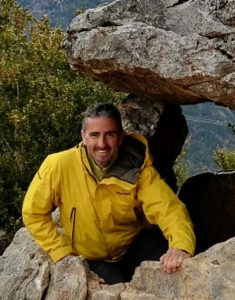 A photo of one of our qualified mountain guides at Aragon Active, Juan Manuel Crespo