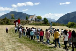 The processio for the Romeria in Albella on our Cooking and Culture Holiday