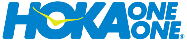 The Hoka One One logo on Road Shoes vs Trail Shoes