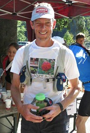 A photo of Jonathan Worswick our guide and running coach on Speed Training for Trail Running