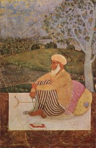Old painting of an Indian man meditating on different types of meditation