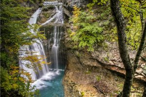 A photo of waterfalls in the autumn in the Ordesa National Park on the Photography Holiday Spain with Aragon Active