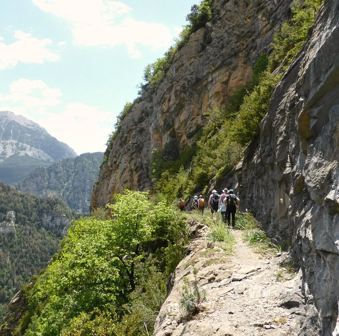 Walking on a faja on Aragon Active Guided walking Holiday Spain