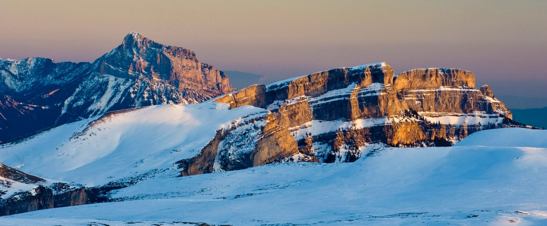 A photo of the Pyrenees in snow taken on Photography Holiday Spain with Aragon Active