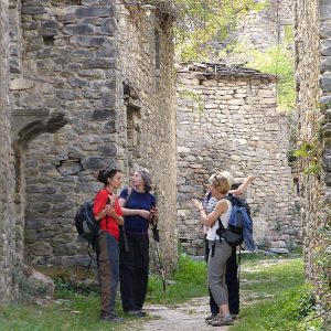 An guided visit to an abandoned village in the Pyrenees with Aragon Active part of their Responsible Travel programme