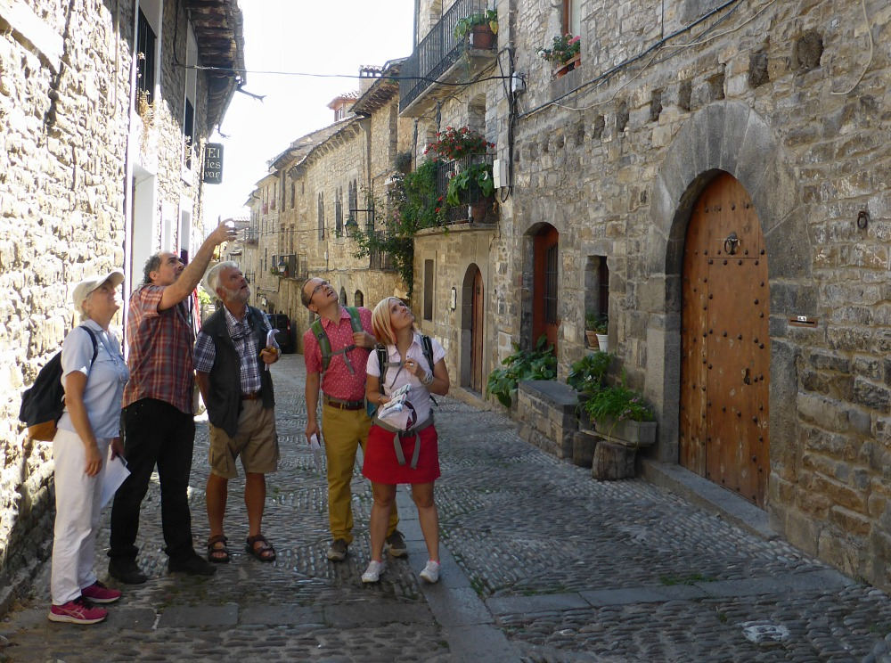 Role play in the medieval town of Ainsa on Aragon Active Learn Spanish Holiday