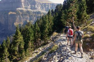 A high walking track in the Ordesa National park in the Spanish Pyrenees on our Guided Walking Holiday Spain