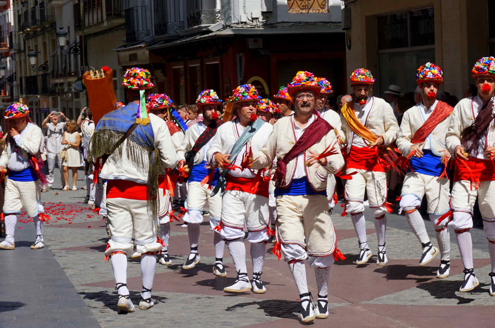Dancers in traditional costume peform at the festival of Santa Orosia in Jaca on our Cultural Holiday Spain