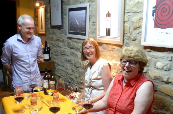 A wine tasting in a Spanish bodega on A view above the Añisclo canyon which we visit on Aragon Active Learn Spanish Holiday