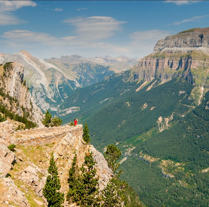 A stunning panoramic view of the Ordesa National Park on a Cooking and Walking Holiday Spain