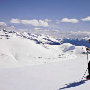 Snow shoeing in t-shirts high in the Spanish Pyrenees on our Snowshoeing Holidays Pyrenees