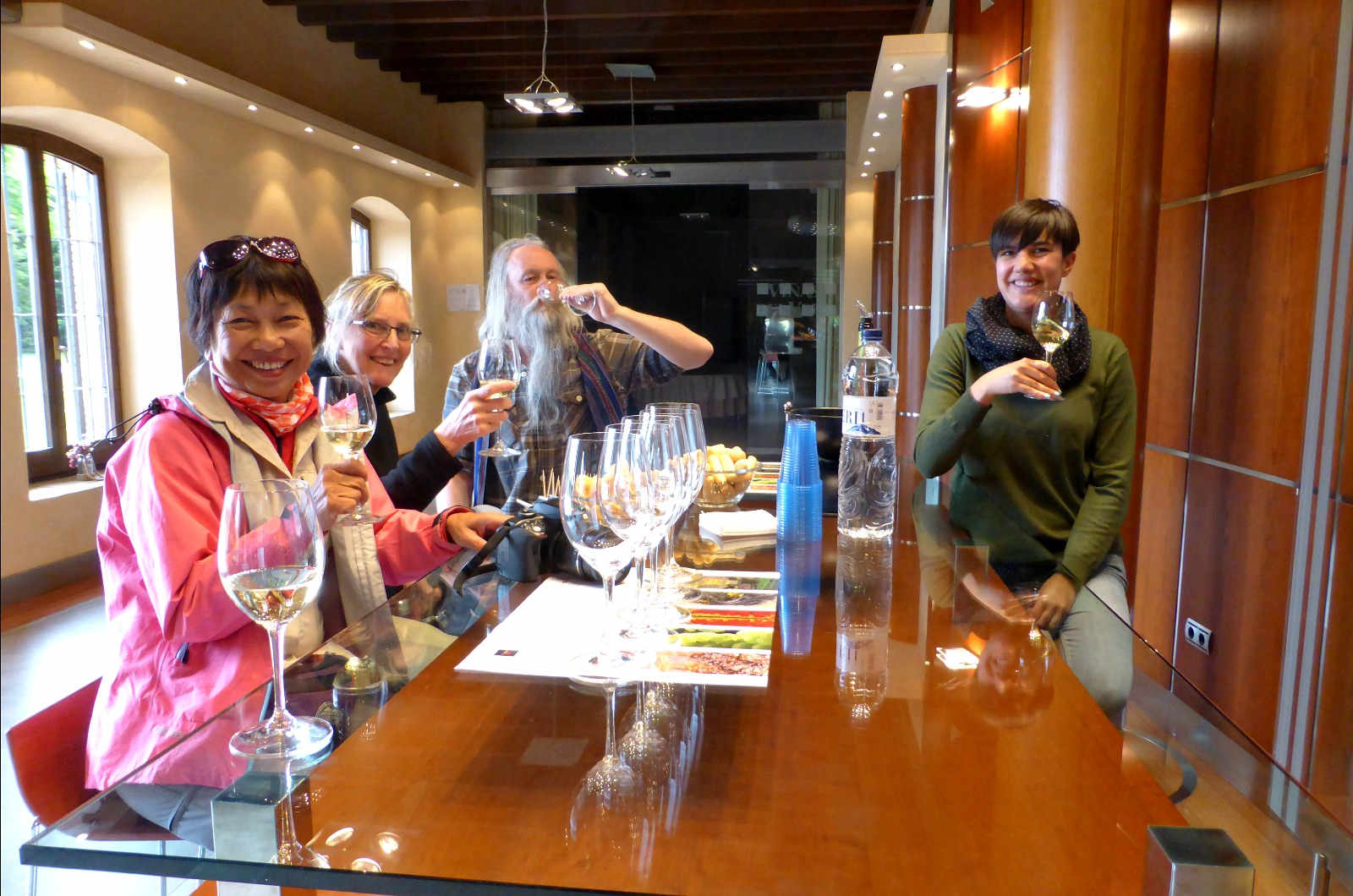 A group taste some fine wines in the Somontano wine region of the Pyrenees on our Cultural Holiday Spain