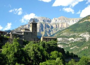 A view of the church in Torla at self catering torla