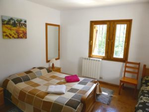 View of downstairs bedroom onSelf catering Spanish Pyrenees Torla