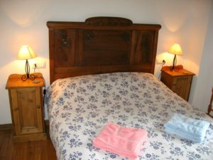View of master bedroom on Self Catering Spanish Pyrenees Torla