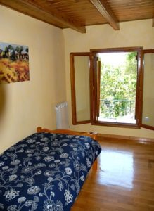View of the single bedroom at our self-catering cottage in Torla