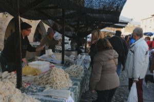 A market stall on Learn Spanish Holidays