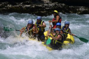 White water rafting on the river Ara on tailor made activity holidays spain