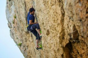 A man rock climbing on Tailor Made Activity Holidays Spain