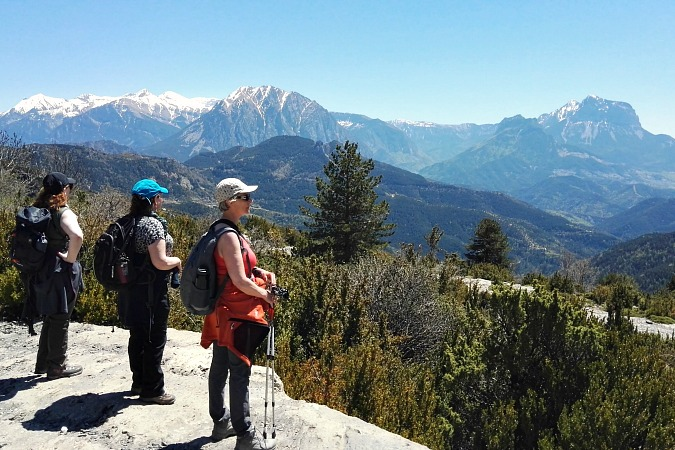 Breathtaking view looking across the Pyrenees on Guided Walking Holidays Pyrenees