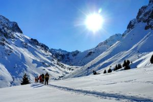 Snowshoe walking in the Pyrenees with Winter Walking Holidays Pyrenees