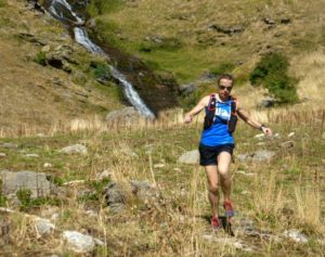A trail runner in Ordesa on Trail running Holiday Pyrenees